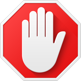 Logo de l'extension AdBlock