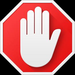 Logo de l'extension AdBlock