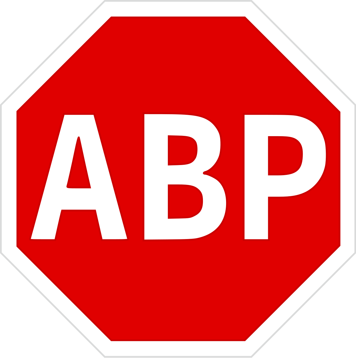 Logo de l'extension AdBlock Plus